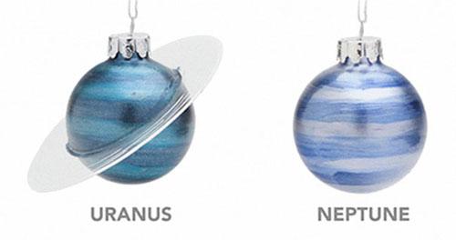 галактические украшения для ёлки