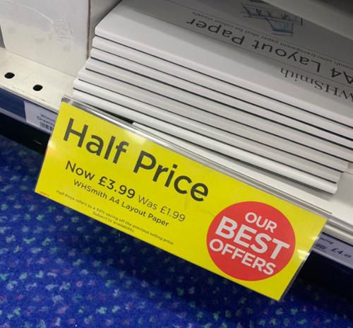 странные ценники в магазине