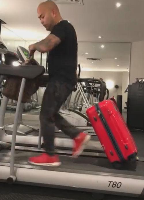 тренировка перед авиаперелётом