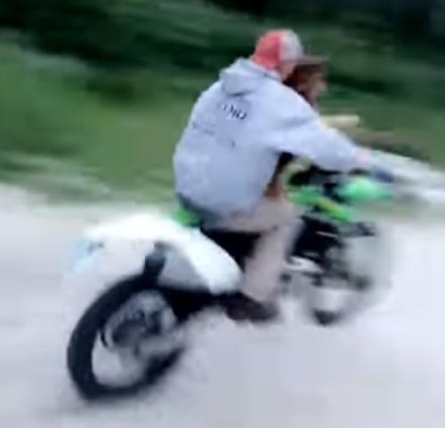 собака катается на мотоцикле
