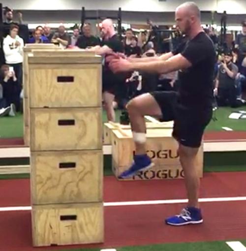 необычайно прыгучий мужчина