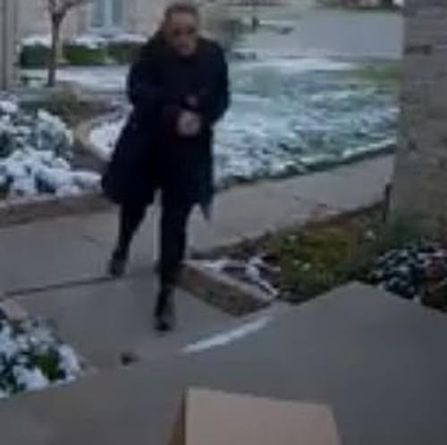женщина крадёт посылки