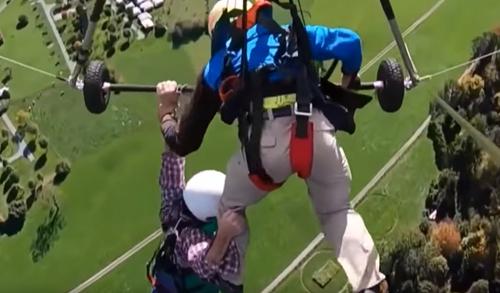 опасный полёт на дельтаплане