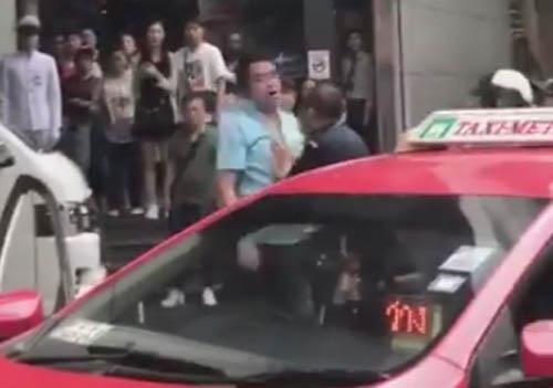 драка охранников и таксиста