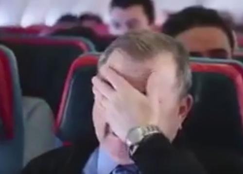 трогательная сцена в самолёте