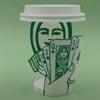 творение из кофейного стаканчика