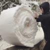 снег свернули в рулон