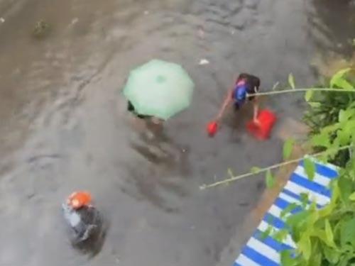 рыбалка во время наводнения