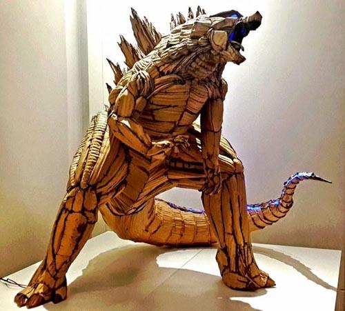 потрясающие скульптуры из картона