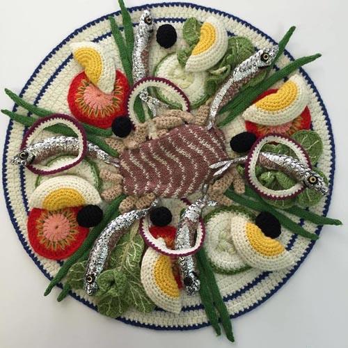 аппетитные вязаные морепродукты