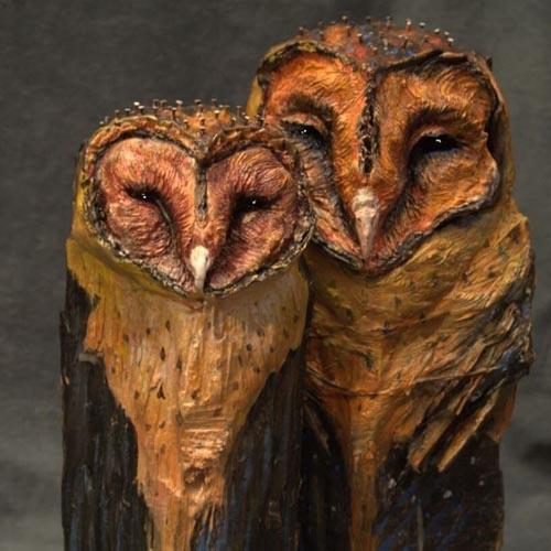 удивительные скульптуры сов