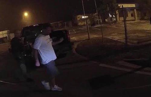 пьяный водитель станцевал