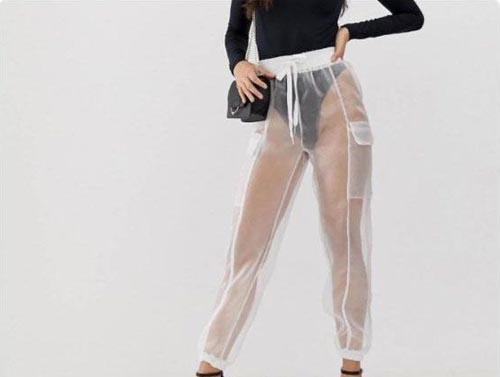 прозрачные брюки из органзы