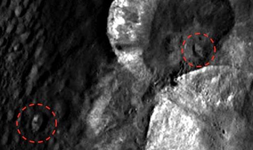 космические корабли на астероиде
