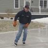 катание на коньках перед домом
