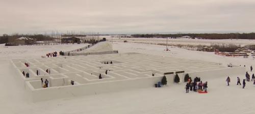 большой снежный лабиринт