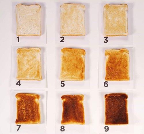 прожаренные хлебные тосты