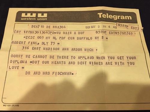 телеграмма запоздала на много лет