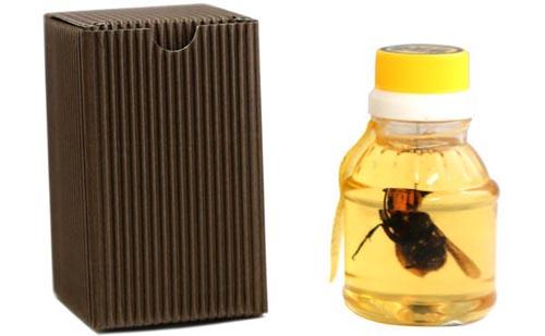 банка мёда с мёртвыми шершнями
