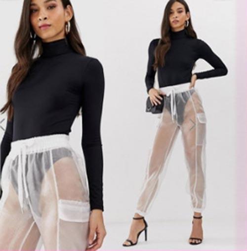 прозрачные брюки подняли на смех