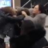 дерущиеся женщины в ресторане
