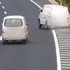 водитель повалил машину на бок