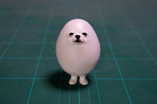 шпиц превратился в яйцо