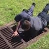 утят спасли из канализации