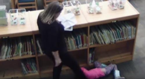 учительница пнула девочку