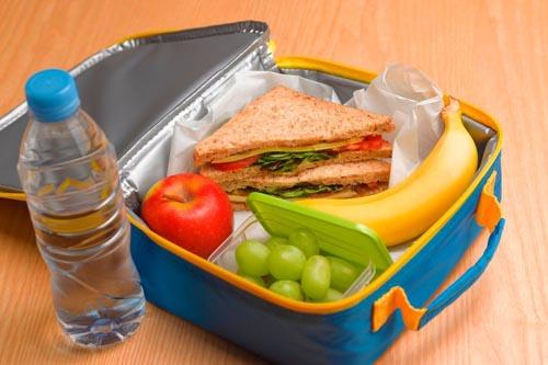 нездоровый обед для школьника