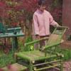 красивое кресло из бамбука