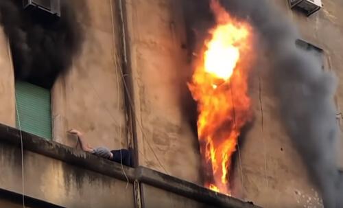 опасное спасение от пожара