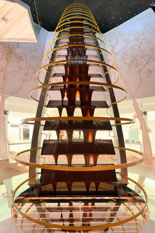 рекордный шоколадный фонтан