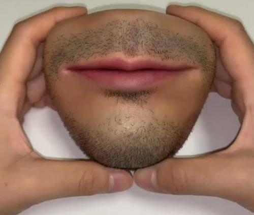 кошелёк в виде человеческого рта