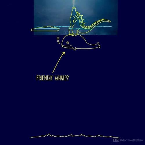 плавучая годзилла в океане