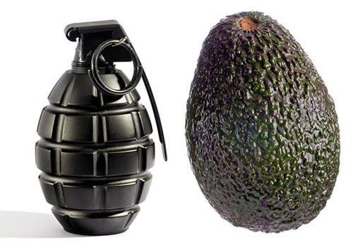 авокадо для ограбления банка