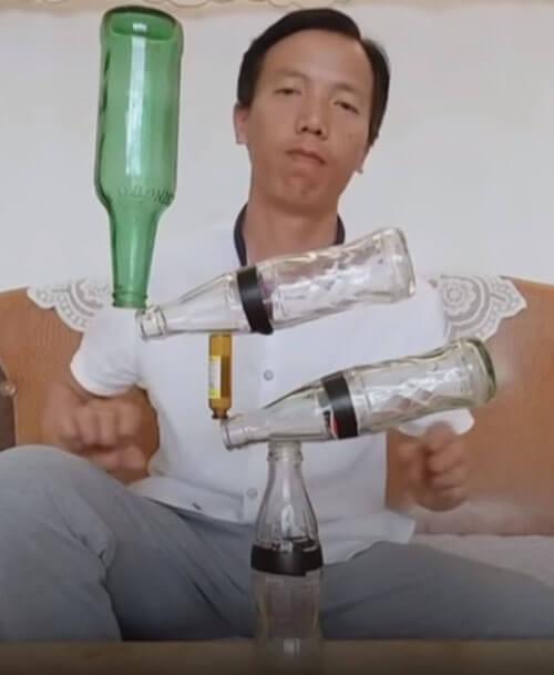 потрясающие трюки с бутылками