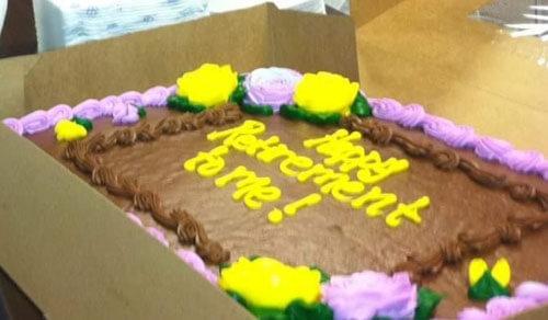 необычный торт для коллег