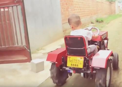 самодельный трактор для сына