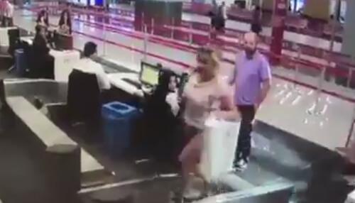 пассажирка опозорилась в аэропорту