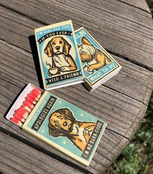 спичечные коробки с собаками