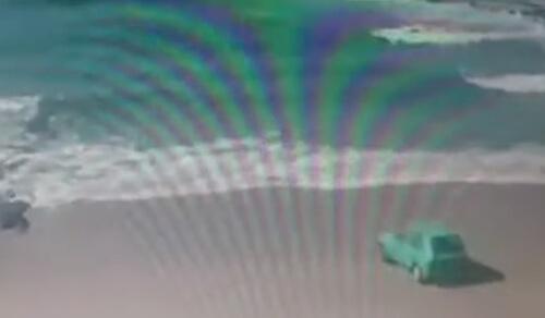 машину утопили в океане