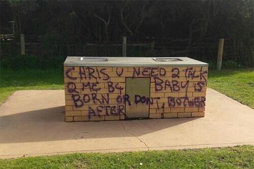 таинственные граффити в городе