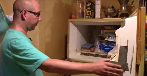 коробка хранилась в морозилке