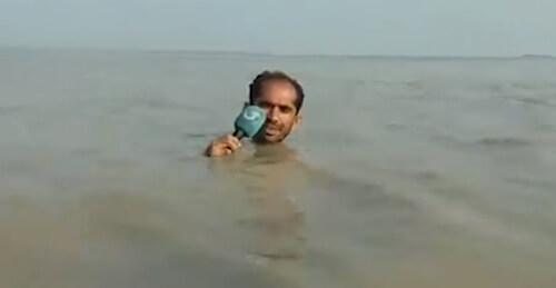репортёр рассказал о наводнении