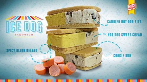 мороженое со вкусом хот-догов