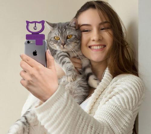 устройство для селфи с кошками