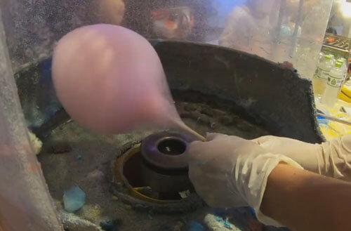 приготовление сахарной ваты