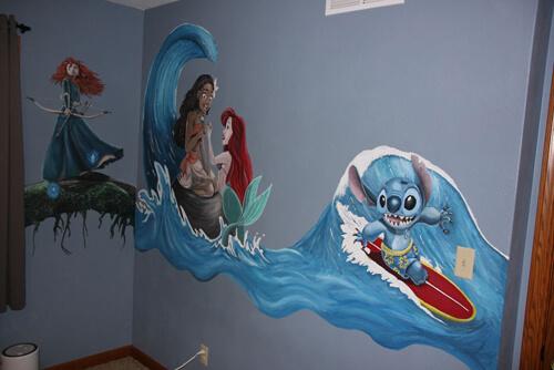 фрески в детской комнате