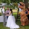 сестра нарядилась динозавром
